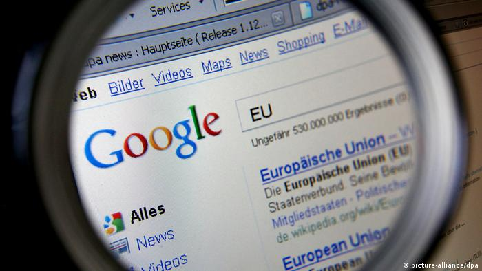 Google search page (Photo: Oliver Berg/dpa)
