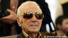 epa04052533 Armenian born French singer legend Charles Aznavour during the Zurich Chess Challenge 2014 in Zurich, Switzerland, 02 February 2014. EPA/WALTER BIERI +++(c) dpa - Bildfunk+++