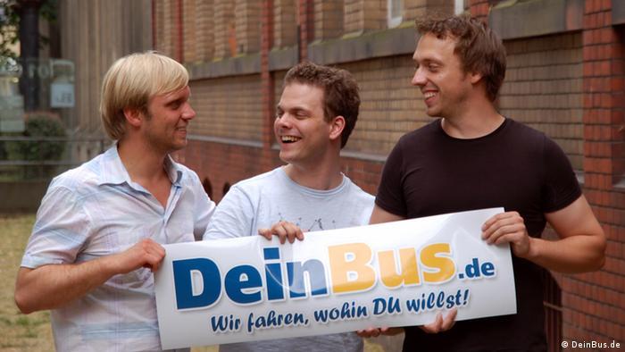 Основатели стартапа DeinBus