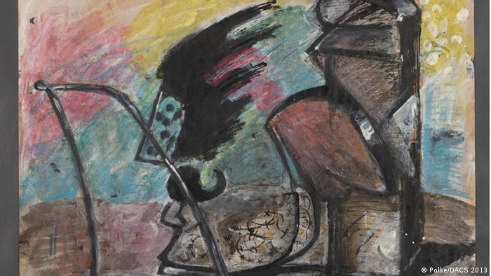 Aquarela sem título de Sigmar Polke, 1969
