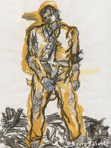 A New Type, by Georg Baselitz, 1965, from the exhibition Germany Divided: Baselitz and his Generation and the British Museum,
