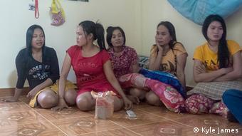 Female garment workers in Phnom Penh