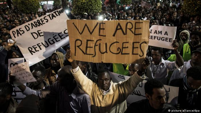 African asylum seekers in Israel (picture-alliance/dpa)
