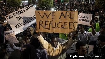 Asylsuchende protestieren gegen die israelische Regierung (Foto: picture alliance/dpa)