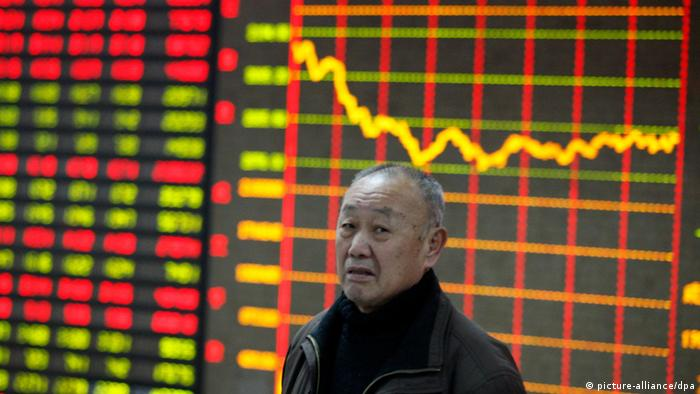 Fallende Kurse in China. Foto: dpa