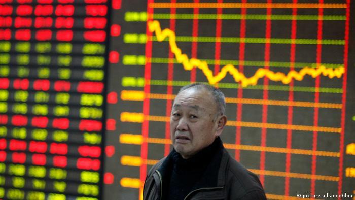 Wirtschaft Fallende Kurse in China Januar 2014