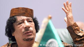 Muammar al-Gadhafi Portrait KHALED DESOUKI/AFP/Getty Images