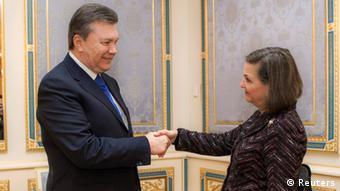 Ukraine US Viktor Yanukovich und Victoria Nuland