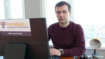 Ukrainian Journalist Dmytro Hnap (Foto: Eugen Theise/DW)