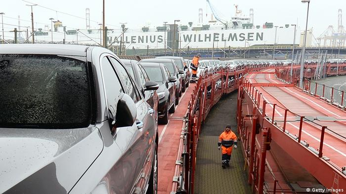 Bremerhaven Autoverladung 22.01.2014 (Getty Images)