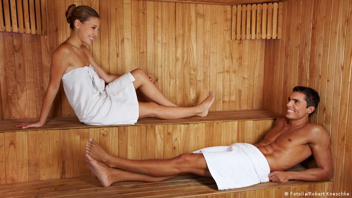 Man and woman in the sauna, Copyright: Fotolia/Robert Kneschke