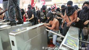 Rio Proteste Fahrpreiserhöhungen
