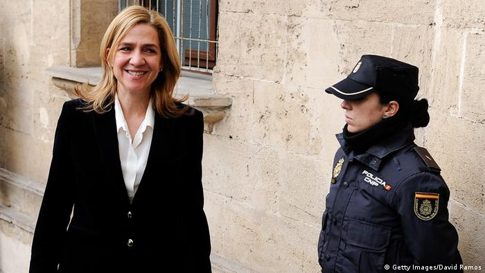 Princess Cristina of Spain arrives at the Palma de Mallorca Courthouse to give evidence. Photo: David Ramos/Getty Images