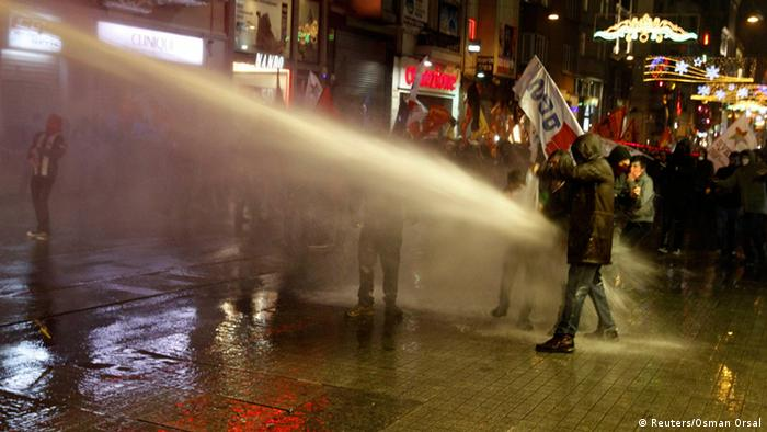 Protesters on the streets of Istanbul