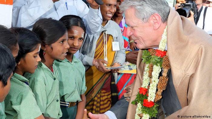 Gauck-Indien