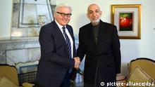 Außenminister Frank-Walter Steinmeier in Afghanistan mit Präsident Hamid Karsai