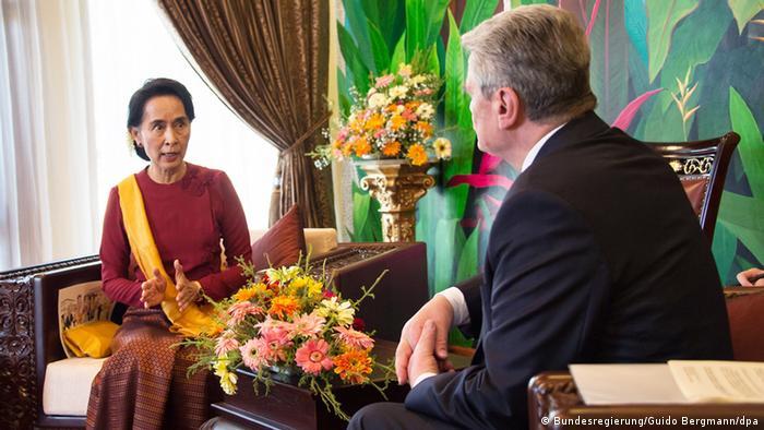 Gauck mit Aung San Su Kyi (Foto: dpa)