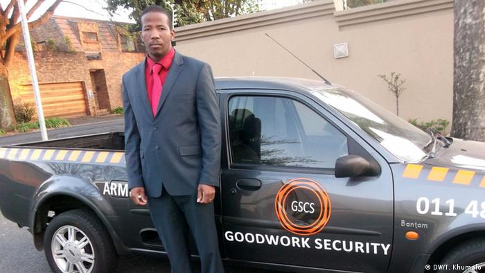 Nhalanhla Vusumuzi Khumalo, owner of Goodwork Security und Cleaning Services company