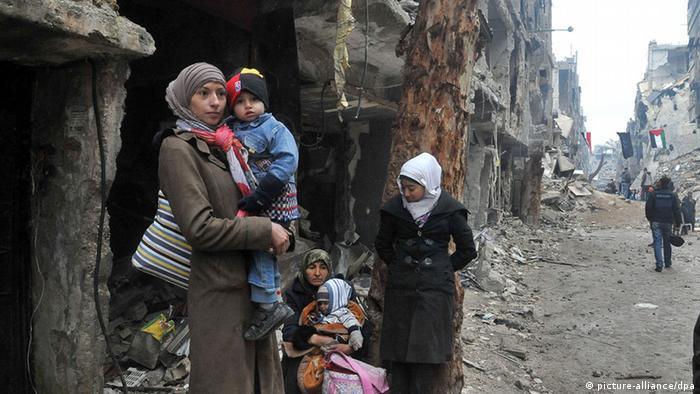 Flüchlingslager Yarmouk bei Damaskus (Foto: DPA)