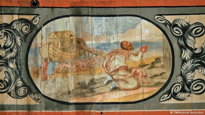 Ноевият ковчег: фреска от 1687 година
