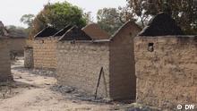 Das vom Millizen Niedergebranntes Dorf Nzakoun in der Präfektur Ouham Pender, Nord-Westen der Zentralafrikanischen Republlik (RCA). Copyright: DW Aufgenommen vor Ort am 8.02.2014