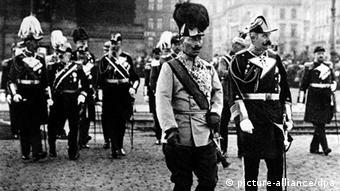 Austrougarski prestolonaslednik Franc Ferdinand sa nemačkim carem Vilhelmom II u Berlinu 1909.