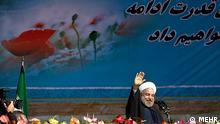 Hasan Rouhani beim Revolutionstag in Teheran