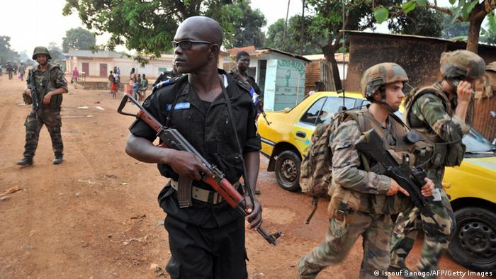 Zentralafrikanische Republik Sangaris-Soldaten Polizist 09.02.2014