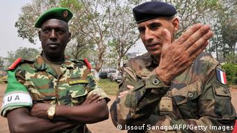 African and French officers in Central African Republic