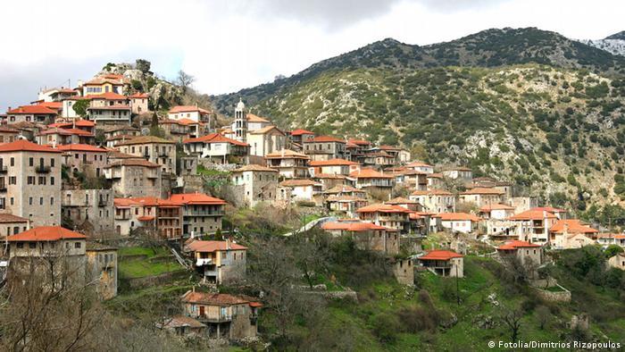 Kleinstadt Dimitsana in Griechenland
