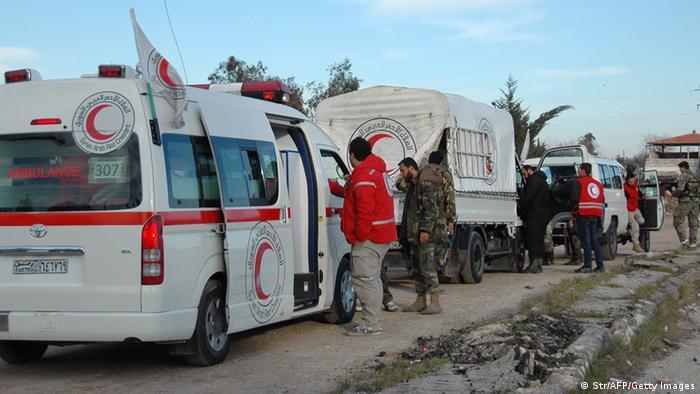 Krieg in Syrien Rotes Kreuz Evakuierung in Homs 10.02.2014