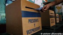 Nicaragua Wahlen Wahlurne