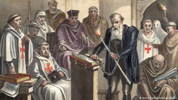 Galileo Galilei vor der Römischen Inquisition (picture-alliance/akg-images)