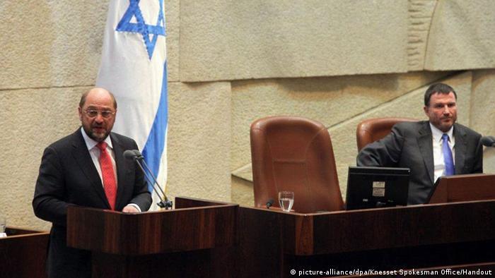 EU-Parlamentspräsident Martin Schulz in der Knesset (picture-alliance/dpa/Knesset Spokesman Office/Handout)