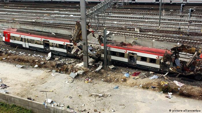 destroyed trains