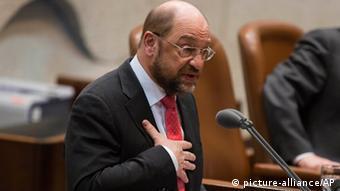 EU-Parlamentspräsident Martin Schulz bei seiner Rede in der Knesset (Foto: AP )