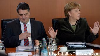 Зигмар Габриэль и Ангела Меркель