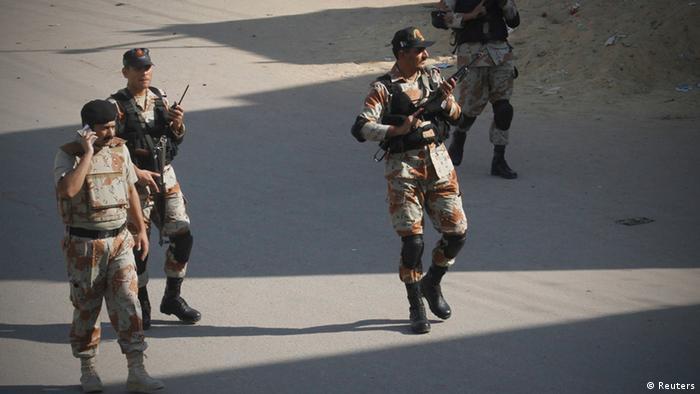 Pakistan Karachi Patrouille Sicherheitskräfte Polizei (Reuters)