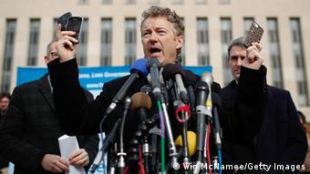 Rand Paul US Senator NSA Affaire Rede Washington