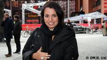Die argentinische Regisseurin Celina Murga. Ihr Film La Tercera Orilla hatte heute (12.02.14) Premiere im Wettbewerb der Berlinale. DW/Eva Usi 2020 Celina Murga im Gespräch mit der DW.