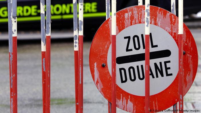 Grenze Italien Schweiz Meyrin
