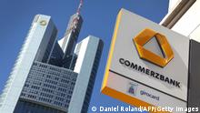 Logo Headquarters Commerzbank Frankfurt am Main (Daniel Roland/AFP/Getty Images)