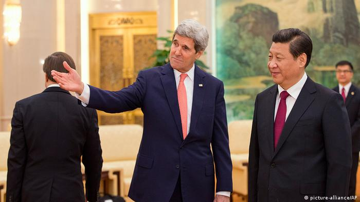 China USA Außenminister John Kerry bei Xi Jinping in Peking