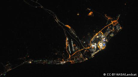 sochi at night as seen from space