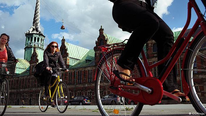 Fahrräder in Kopenhagen, Dänemark