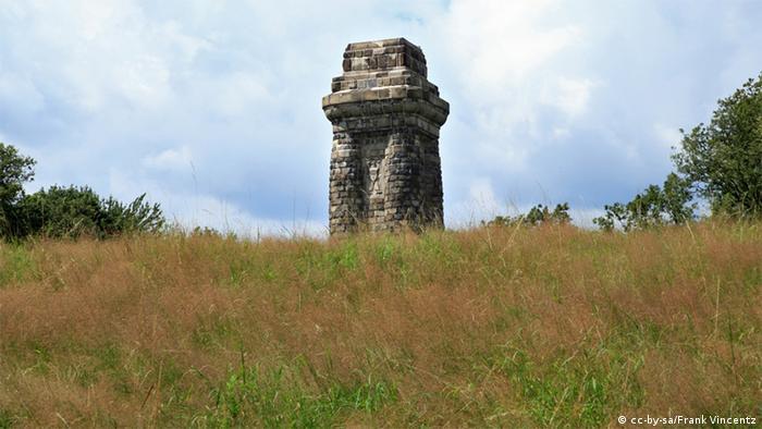 Колонна Бисмарка горе Гольдберг в городе Хаген