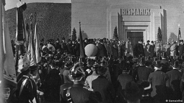 Открытие башни Бисмарка под Лейпцигом в 1915 году