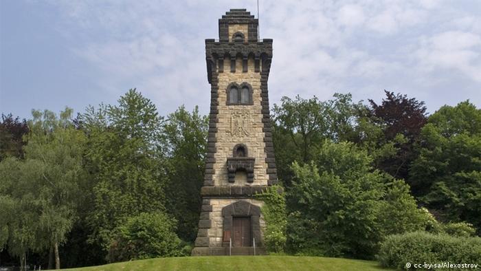 Башня Бисмарка в Мюльхайме-на-Руре 1909 года постройки