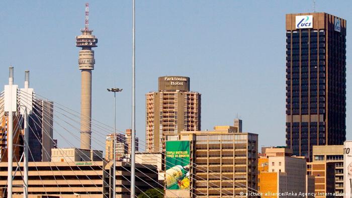 Südafrika Johannesburg Wirtschaft Hochhausfront