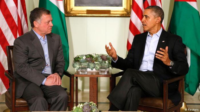 US Präsident Barack Obama mit König Abdullah von Jordanien Kalifornien 14.2.14